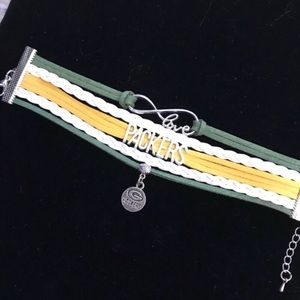 Jewelry - NFL Leather Charm Bracelet - Packers NWOT 0092